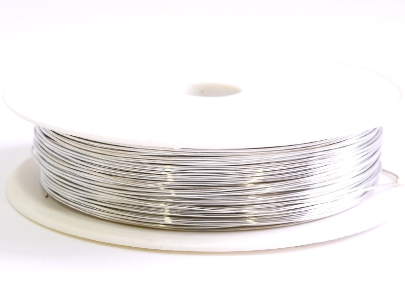 9 m of copper wire, 0.5 mm - silvery