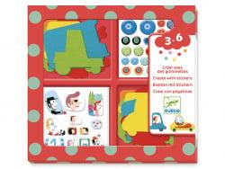 Acheter Créer avec des gommettes - J'aime les voitures - 14,99€ en ligne sur La Petite Epicerie - Loisirs créatifs