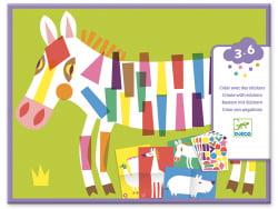 Acheter Créer avec des stickers - Les grands animaux - 8,49€ en ligne sur La Petite Epicerie - Loisirs créatifs