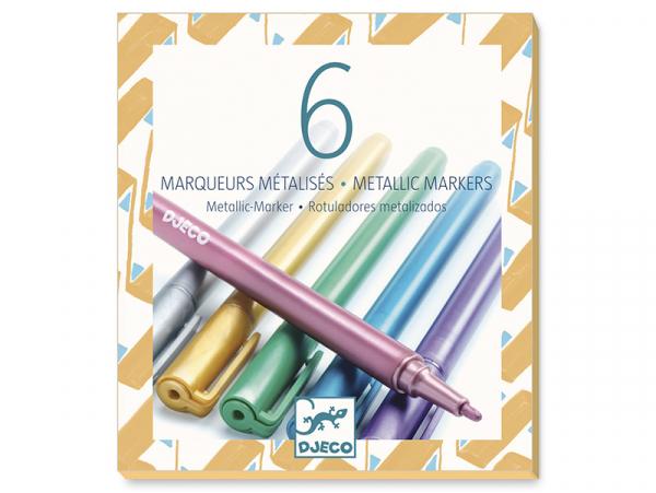 Acheter Lot de 6 marqueurs métallisés - 12,49€ en ligne sur La Petite Epicerie - Loisirs créatifs