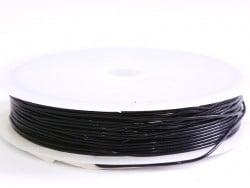 5 m de fil élastique 0,8 mm - noir