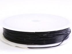 5 m Gummifaden - 0,8 mm - schwarz
