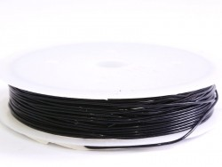 5 m of elastic cord, 0.8 mm - black