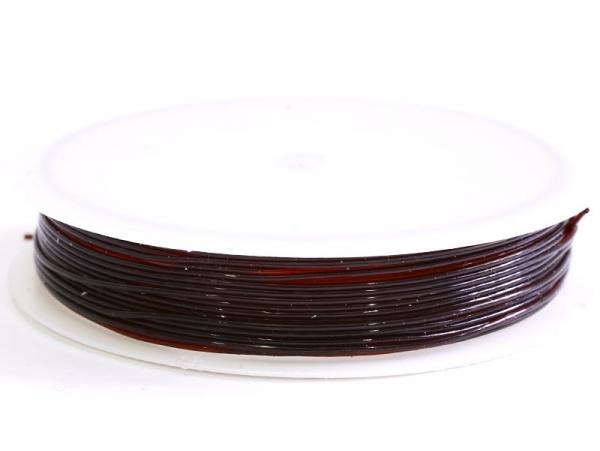5 m of elastic cord, 0.8 mm - chocolate