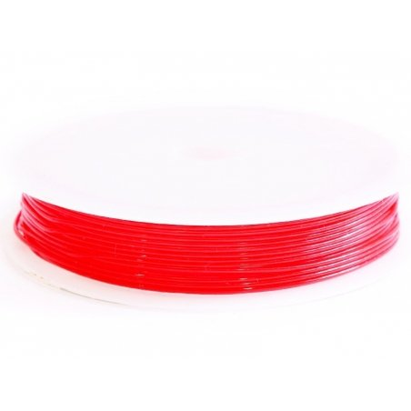 5 m of elastic cord, 0.8 mm - red