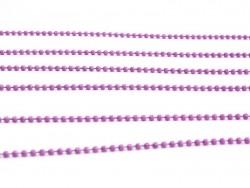 1m chaine bille violet rose mat  1,5 mm