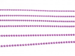 Matte purple-pink ball chain (1 m) - 1.5 mm