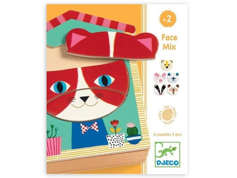 Acheter Puzzles en bois - Face-mix animaux - 14,99€ en ligne sur La Petite Epicerie - 100% Loisirs créatifs