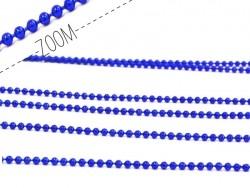 Acheter Chaine bille 1,5 mm bleu électrique métallisé x 20 cm - 0,39€ en ligne sur La Petite Epicerie - 100% Loisirs créatifs