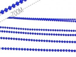 Metallic electric-blue ball chain (1 m) - 1.5 mm