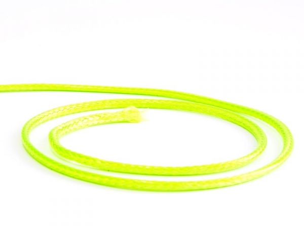 1 m of braided polyester cord, 2.5 mm - neon green
