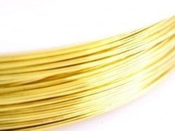 9 m de fil de cuivre 0,5 mm - doré
