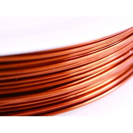 9 m de fil de cuivre 0,5 mm - cuivré