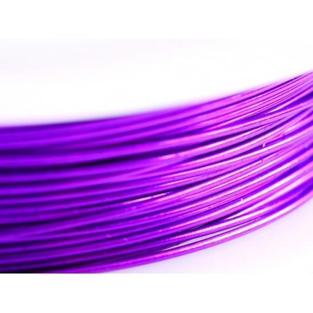 9 m of copper wire, 0.5 mm - purple