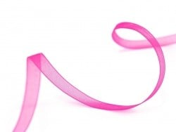 1 m de ruban organza 6 mm - rose fluo