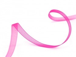 1 m of organza ribbon (6 mm) - Neon pink