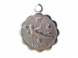 Acheter Médaille astro plaqué argent 925 - Vierge - 3,49€ en ligne sur La Petite Epicerie - Loisirs créatifs