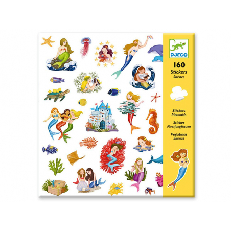 Acheter Stickers en papier - Sirènes - 2,99€ en ligne sur La Petite Epicerie - Loisirs créatifs