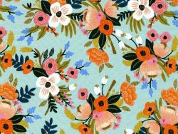 Acheter Tissu viscose Rifle Paper - Amalfi Lively Floral Mint - 2,89€ en ligne sur La Petite Epicerie - Loisirs créatifs