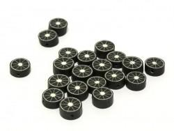 20 perles agrumes - noir