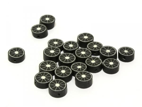 20 perles agrumes - noir  - 1