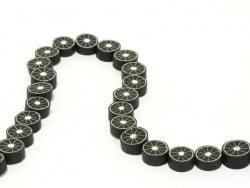 20 Zitrusfruchtperlen - schwarz