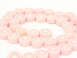 20 Zitrusfruchtperlen - hellrosa
