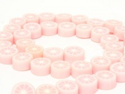 Set of 20 citrus fruits beads - pale pink