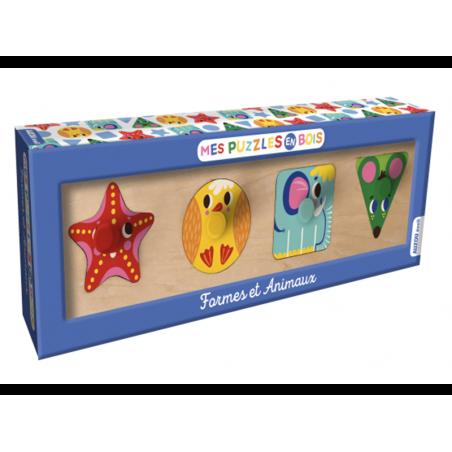 Acheter Puzzle en bois - jeu d'éveil pour tout-petits formes et animaux - 9,95€ en ligne sur La Petite Epicerie - Loisirs cr...