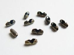 10 bronzefarbene Verschlüsse für Kugelketten (1,5 mm) - Größe S