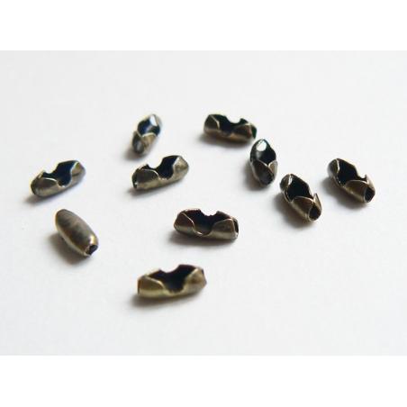 Acheter 10 fermoirs pour chaine bille 1,5mm couleur bronze - Taille S - 1,59€ en ligne sur La Petite Epicerie - Loisirs créa...