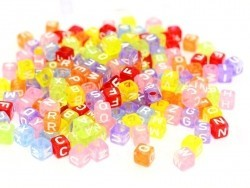 200 perles alphabet - cube