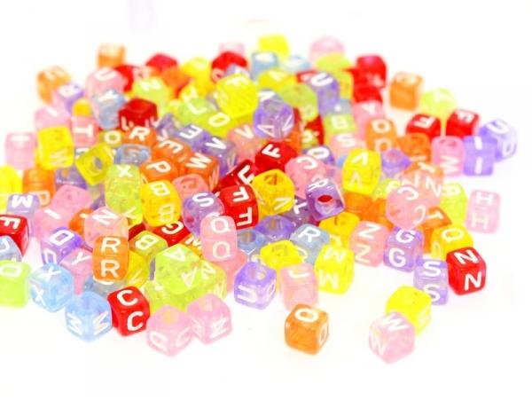 Acheter 200 perles alphabet - cube - 4,99€ en ligne sur La Petite Epicerie - Loisirs créatifs