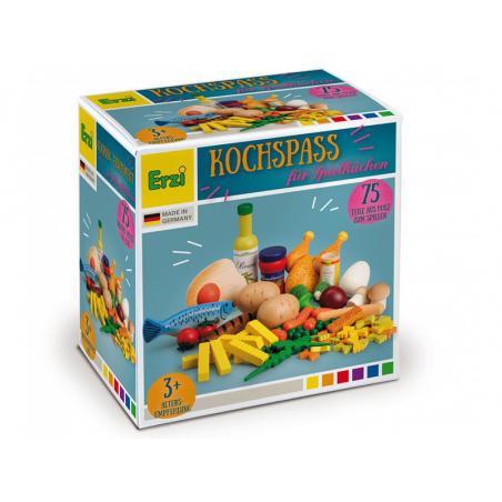 Acheter 75 aliments en bois pour dinette, marchande, cuisine d'enfant - 49,95€ en ligne sur La Petite Epicerie - 100% Loisir...