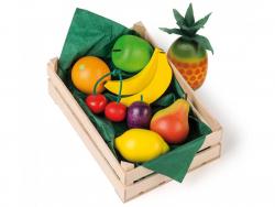 Acheter Assortiment de 9 fruits en bois dans une cagette - 19,99€ en ligne sur La Petite Epicerie - Loisirs créatifs