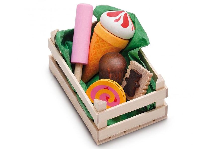 Acheter Petite cagette de 5 desserts / patisseries - jouets en bois pour dinette - 9,99€ en ligne sur La Petite Epicerie - L...