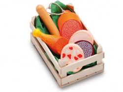 Acheter Petite cagette de 6 morceaux de viande et charcuterie - jouets en bois pour dinette - 9,99€ en ligne sur La Petite E...