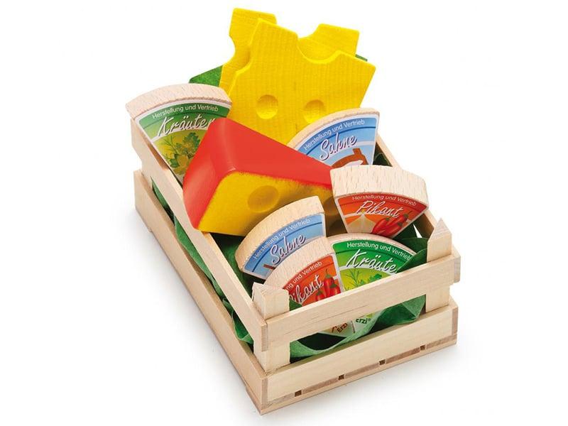 Acheter Petite cagette de 9 fromages - jouets en bois pour dinette - 9,99€ en ligne sur La Petite Epicerie - Loisirs créatifs