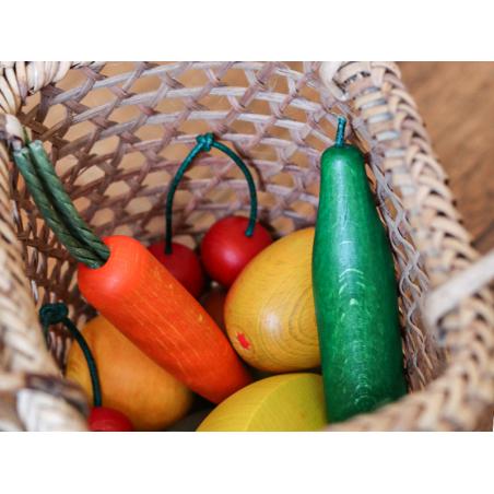 Acheter Assortiment de 9 légumes en bois dans une cagette - 19,99€ en ligne sur La Petite Epicerie - 100% Loisirs créatifs