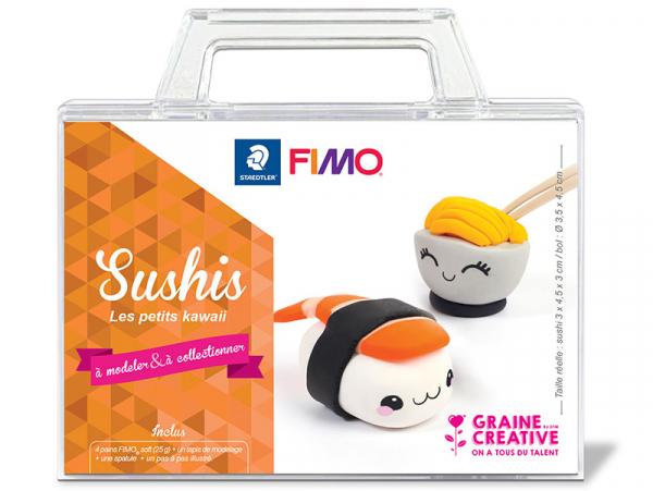 Acheter Mallette - Je fabrique mes sushis Kawaii en fimo - 14,99€ en ligne sur La Petite Epicerie - Loisirs créatifs