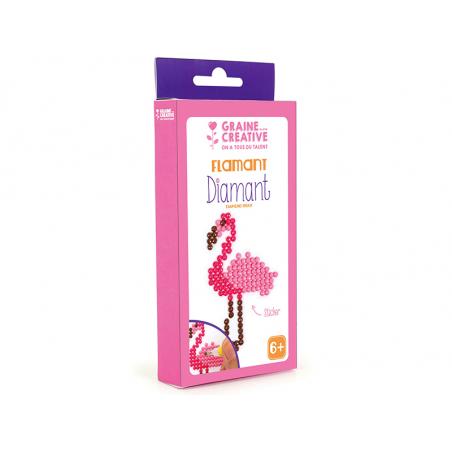 Acheter Kit Diamant mosaïque - Flamant rose - 2,49€ en ligne sur La Petite Epicerie - Loisirs créatifs