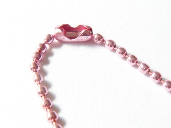 Pink ball necklace - 60 cm