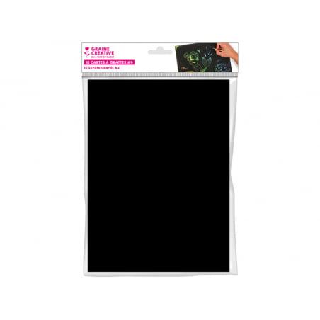 Acheter 10 Cartes a gratter - Format A4 - 5,49€ en ligne sur La Petite Epicerie - Loisirs créatifs