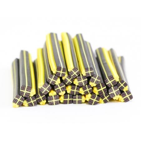 Acheter Cane cadeau noir et jaune- en pâte polymère - à trancher - 0,49€ en ligne sur La Petite Epicerie - Loisirs créatifs