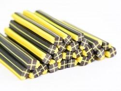 Geschenkcane - schwarz und gelb