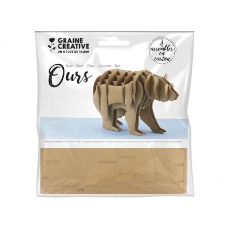 Acheter Maquette en carton 3D - Fabrique ton ours - 2,05€ en ligne sur La Petite Epicerie - Loisirs créatifs