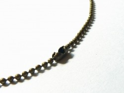 Collier chaine bille bronze - 60 cm  - 1