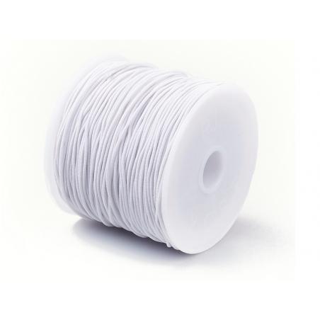Acheter Bobine de 15 mètres de fil élastique blanc - diamètre 1mm - adapté pour coudre des masques COVID-19 - 0,99€ en ligne...