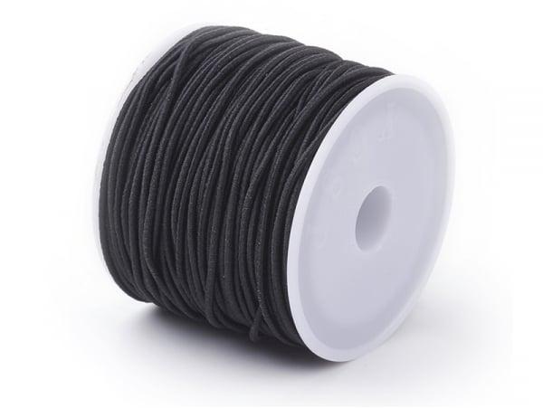 Acheter Bobine de 15 mètres de fil élastique noir - diamètre 1 mm - adapté pour coudre des masques COVID-19 - 0,99€ en ligne...