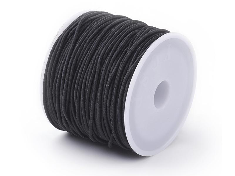 Acheter Bobine de 10 mètres de fil élastique noir - diamètre 1,5 mm - adapté pour coudre des masques COVID-19 - 1,00€ en lig...
